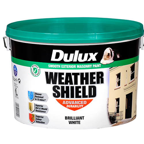 Dulux Weathershield Masonry Paint Brilliant White 10 Litre Mccarthy S